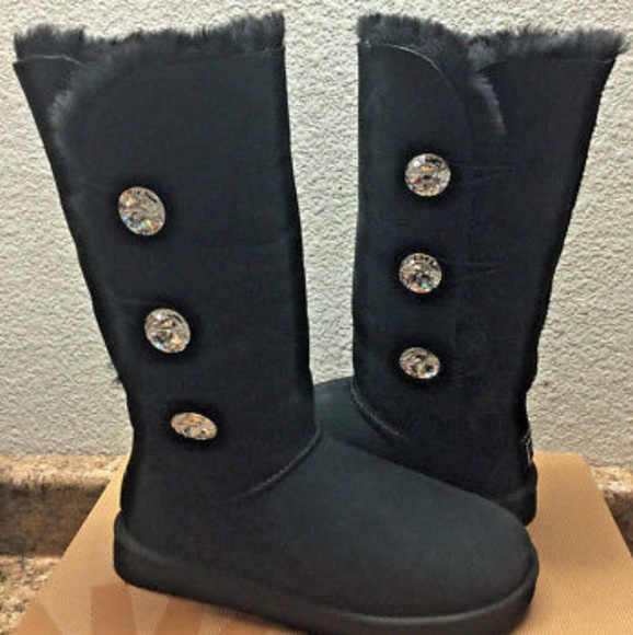 5d94debdabd UGG Bailey Button Bling Triplet Boots